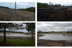 Zbiornik wodny przed i po wyokonaniu